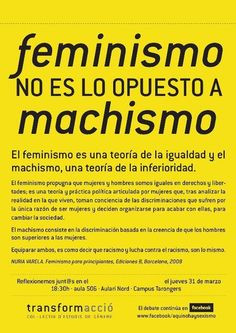 el feminismo no es lo opuesto al machismo more machismo chicas mala ...