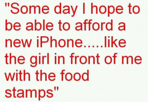 Food Stamps and Iphone