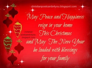 ... christmas, holidays, blessings quotes, Happy new year card free images