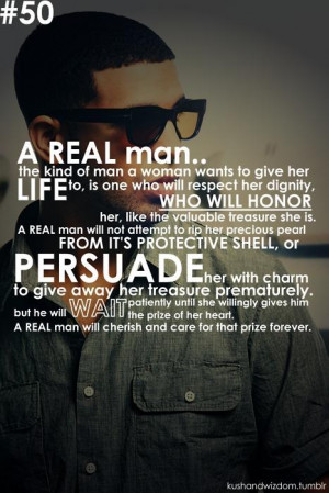 REAL man ~ Drake..LOVE this, like so perfect! This is the type of ...