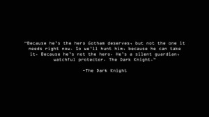 38.Quote From The Dark Knight
