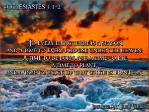 LinksterArt Bible Verses: Ecclesiastes 3:1-2