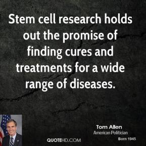Stem cell research holds out the promise of finding cures and ...