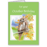 Birthday, Cute Barred Owl with Encouraging Verse Card