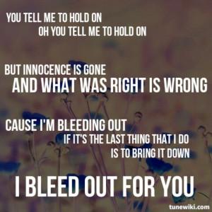Bleeding Out - IMAGINE DRAGONS