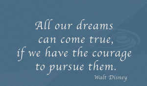 Download Wallpaper with Quote on Dreams By Walt Disney