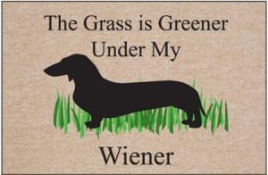dachshund doormat grass wiener dog doormat grass is greener under my ...