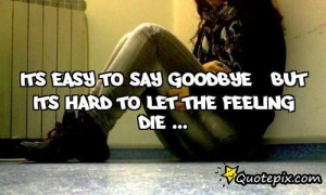 Its Easy To Say GooDbye , But Its Hard To Let The FeeLing DiE ...