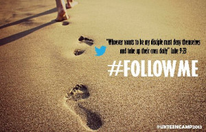 Jesus Follow Footsteps Beach