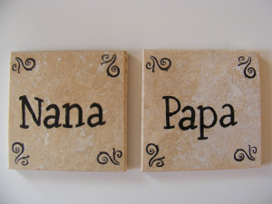 Blessings Nana And Papa Vinyl Wall Lettering Quotes Home