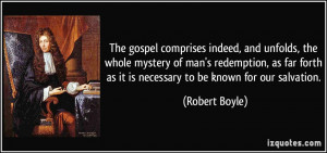 The gospel comprises indeed, and unfolds, the whole mystery of man's ...