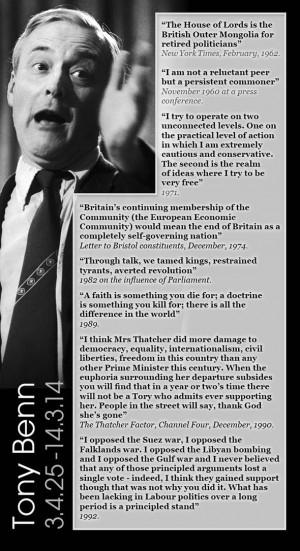 tony benn, labour, stalwart, death, dead, quotes, bristol ...