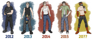 Predictive Evolution of Dean Ambrose's Ring Attire by mikekendrick