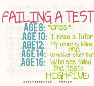 Funny Quotes For Failing Exams ~ funny failing a test Funny Pics Funny ...