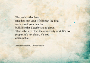quote-book : Jeanette Winterson, The PowerBook (via helplesslyamazed )