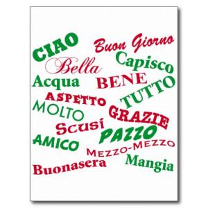 Italian sayings postcards