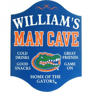 Florida Gators Man Cave Sign - Personalized
