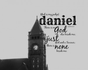 Bible name art Daniel quote Scriptu re verse baby print Christian boy ...