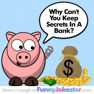 Bank Teller Funny Cartoon Jokes