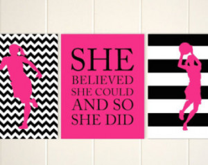 ... Sports Quotes For Girls Basketball Girls basketball wall art