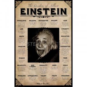 Albert Einstein (Wisdom, Quotes) Art Poster Print - 24x36