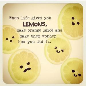 Cute lemon quote #instagram