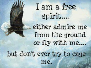 am a free spirit ...Either admire me from the ground. Or fly with me ...