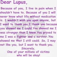 your letter to lupus look like more dear lupus lupus letters lupus ...