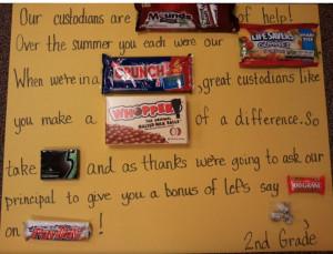 Candy Poster for Custodian Appreciation Week: Custodian Gift
