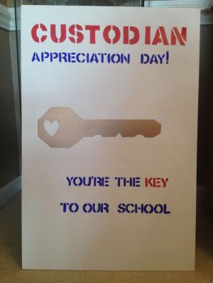 Custodian Appreciation Day poster.