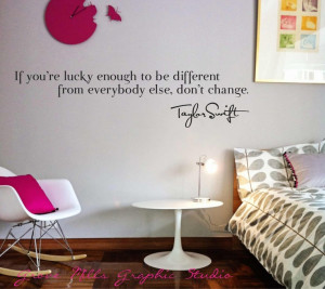 Taylor Swift Wall Decal - Taylor Swift Wall Quote - Girls room Wall ...