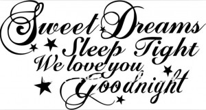 FREE-TH1029-sweet-dream-Good-night-Quote-wall-stickers-Vinyl-Wall ...