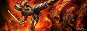 Mortal Kombat 9 Scorpion facebook cover
