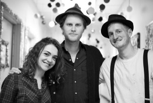 of the Lumineers from left to right: Neyla Pekarek, Wesley Schultz ...
