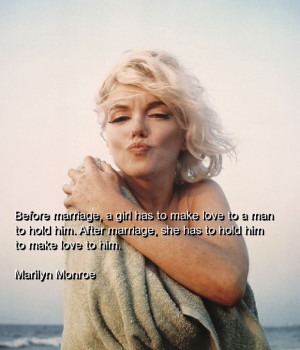 Marilyn monroe, quotes, sayings, marriage, about men