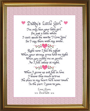 Little Girl Quotes About Happiness: Daddy And Little Girl Quote ABout ...