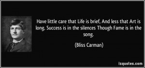 More Bliss Carman Quotes