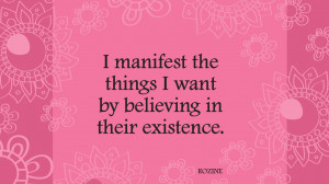 really love being me and I am now busy manifesting my dreams.