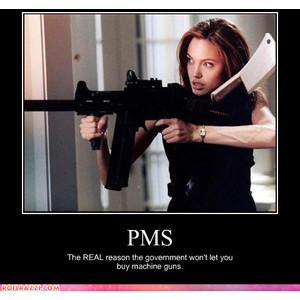 celebrity pictures angelina jolie pms guns
