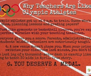 Why Teachers are Like Olympic Athletes