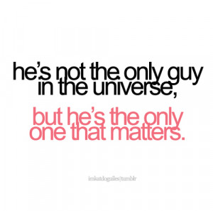 guy, love, only, quote, text, universe, words