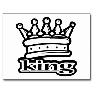 King Crown Royal Royalty Postcards