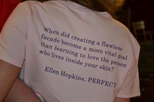 Perfect tee shirt (Ellen Hopkins)