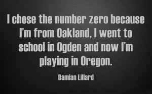 zero because I'm from Oakland, I went to school in Ogden and now I ...