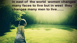 Women Changes many Faces Quote Wallpaper