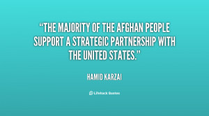 The majority of the Afghan people support a strategic partnership with ...