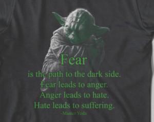 Wars Shirt Master Yoda Quote T -shirt Yoda Tshirt Men Women T-Shirt ...