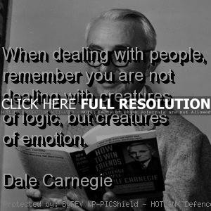 dale carnegie, quotes, sayings, management, people, emotion
