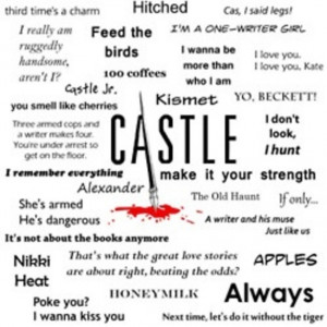 Castle quotes. Love the incorporation of the Castle logo on this ...