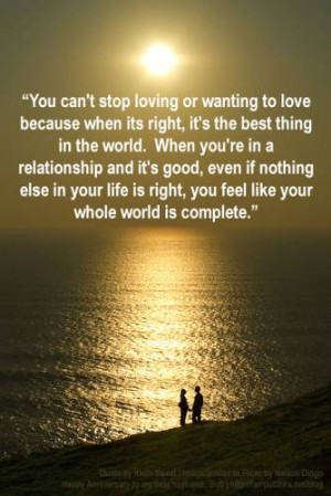 You Feel Like Your Whole World Is Complete ~ Anniversary Quote